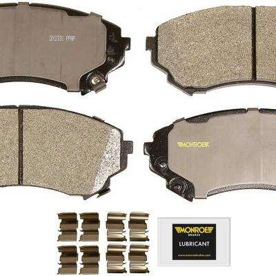 Front Monroe Total Solution Semi-Metallic Brake Pads fits 2008-2014 Cadillac CTS