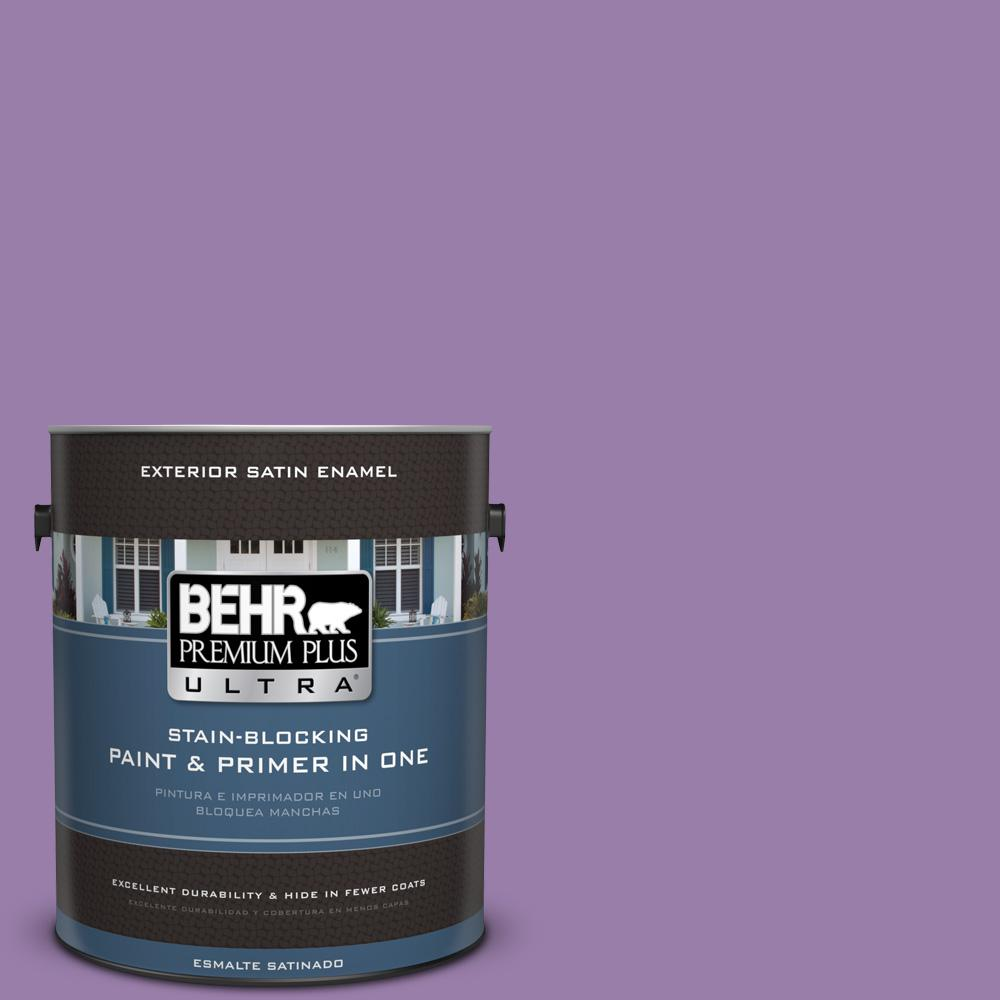 1 gal. #MQ4-61 Lilac Intuition Satin Enamel Exterior Paint and Primer