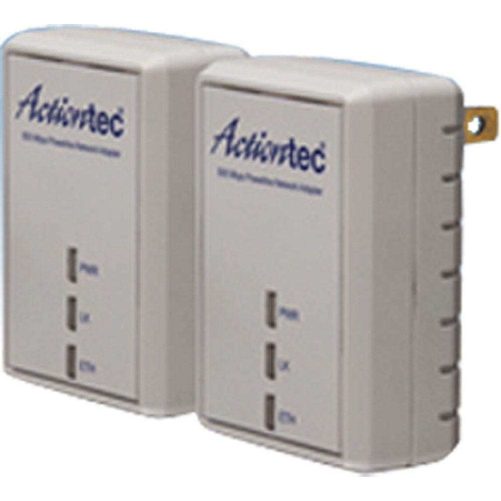 Actiontec 500 Mbps Powerline Adapter Two-Unit Network Kit