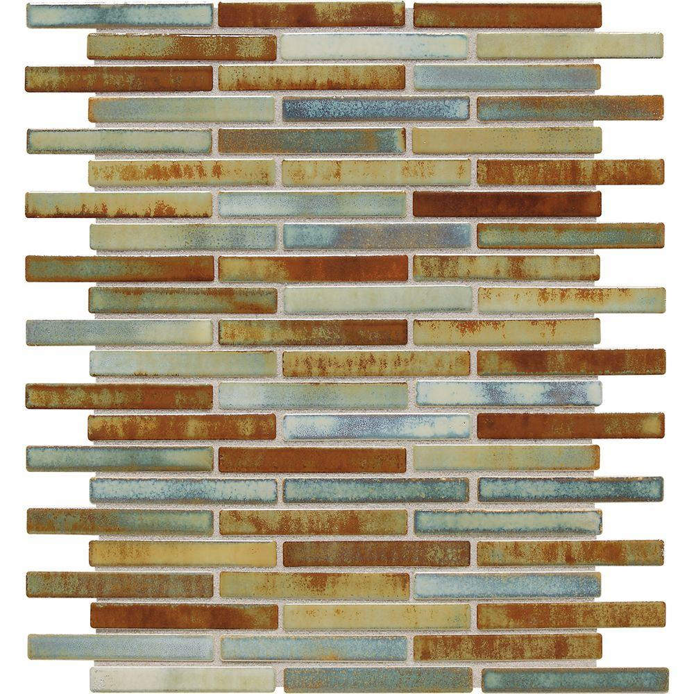 Daltile Fashion Accents Lake 12 in. x 12 in. x 8 mm Porcelain Mosaic Wall Tile (1 sq. ft. / piece)