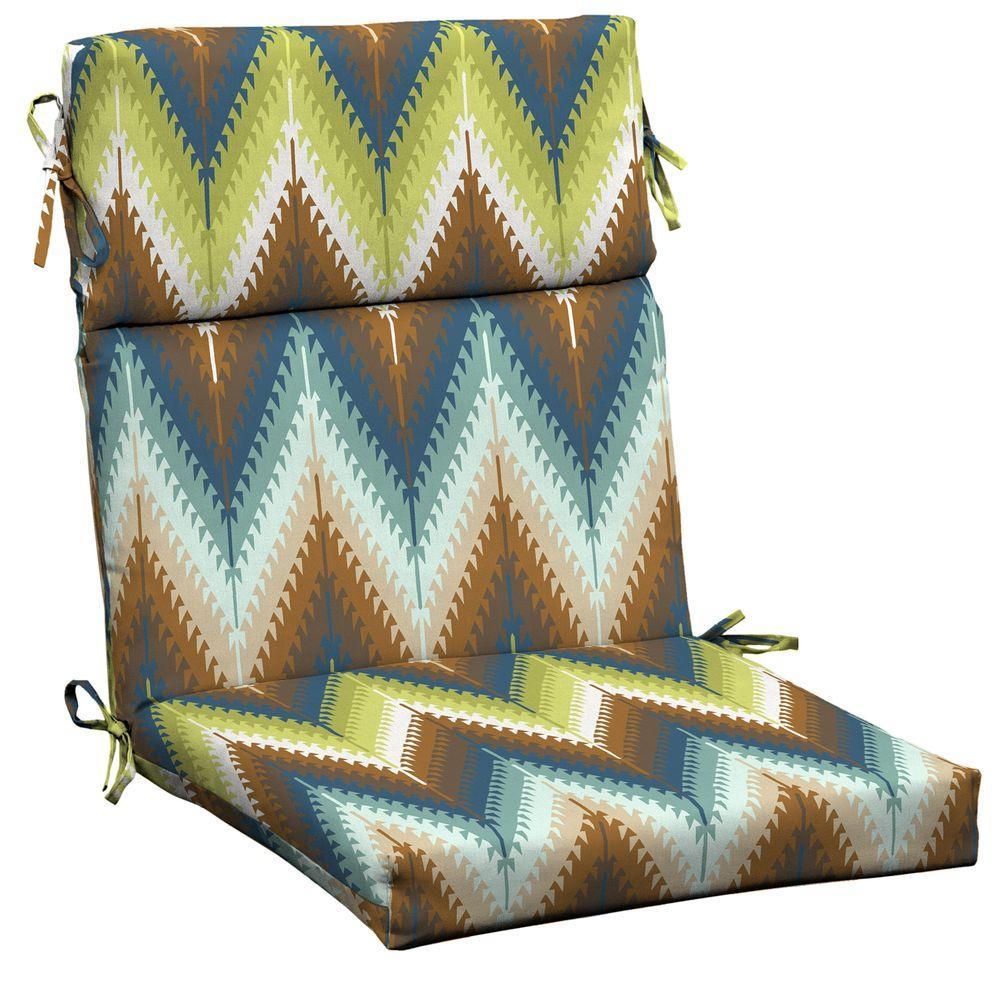 Pueblo Flame Stitch Outdoor Dining Chair Cushion