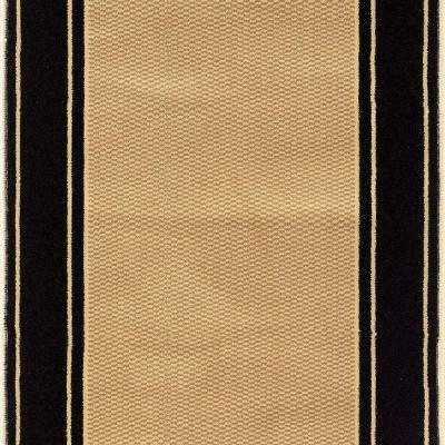 Kurdamir Washington Black 26 in. x Your Choice Length Stair Runner