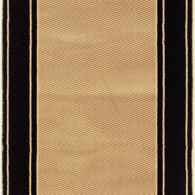 Kurdamir Washington Black 33 in. x Your Choice Length Stair Runner