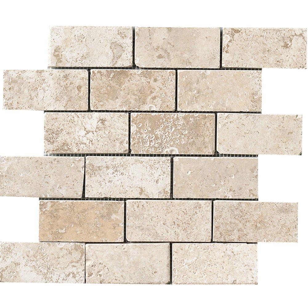 MARAZZI Montagna Lugano 12 in. x 12 in. x 8mm Porcelain Mesh-Mounted Mosaic Tile