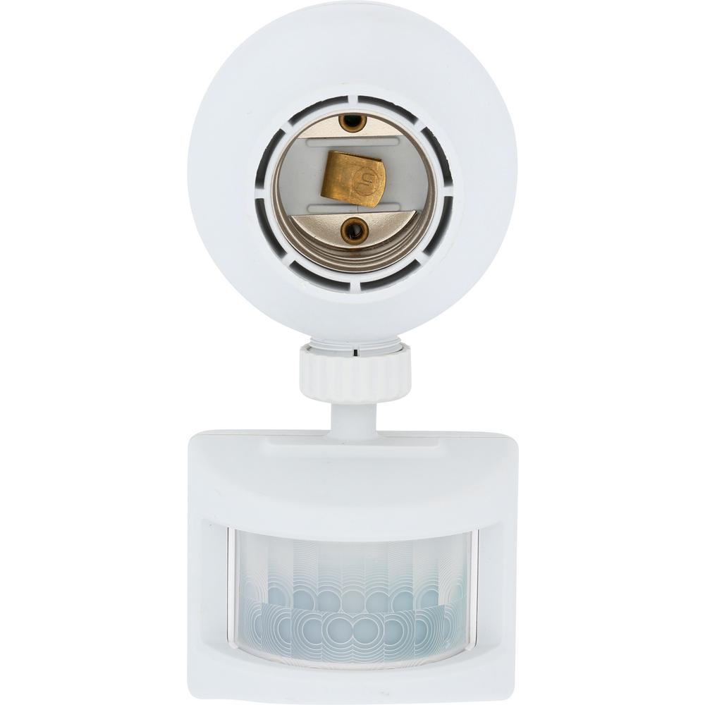 Dual Program Motion-Sensing Light Control, White