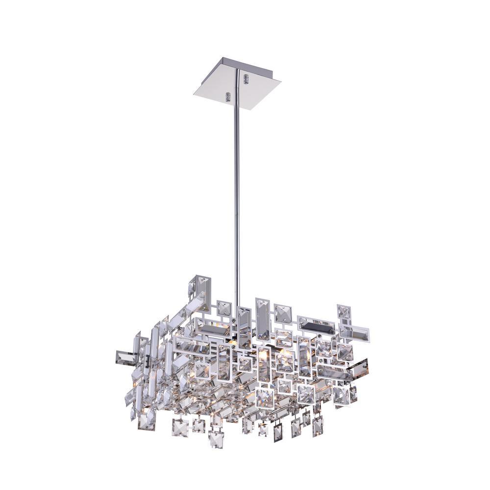 Cwi Lighting Arley 6 Light Chrome Pendant 5689p14 6 S 601 The Home Depot