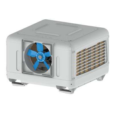 5500 CFM 2-Speed Down/Side Discharge Roof Top Evaporative Cooler for 2000 sq. ft. (with Motor) Free Additional Pad Set