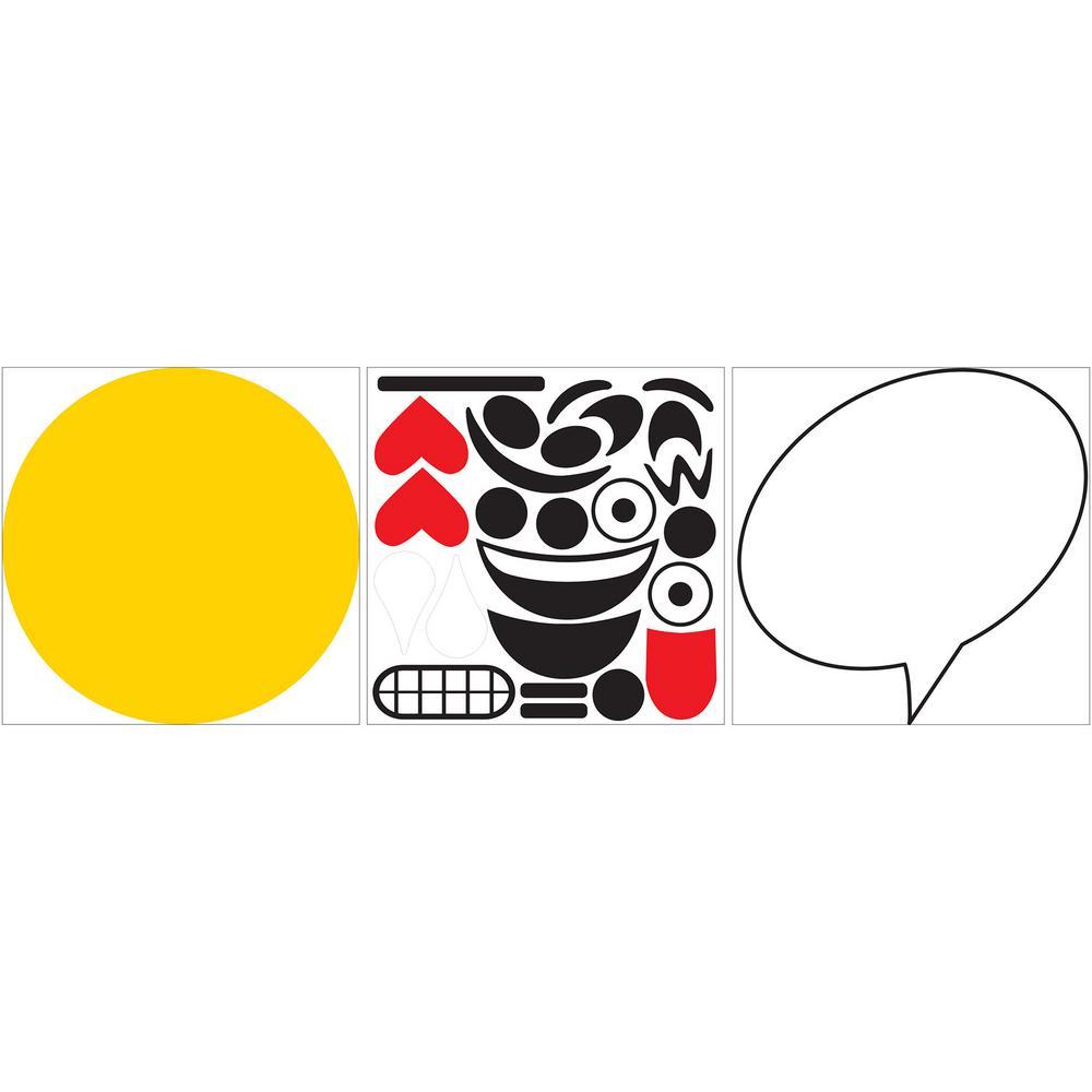 26 in. x 13 in. Create an Emoji Dry Erase Wall Decal