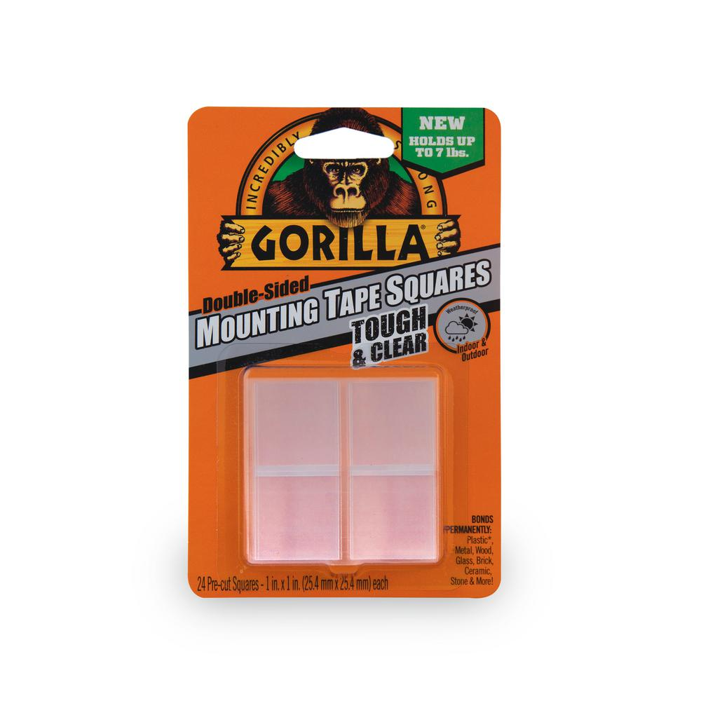 Gorilla 1 in. Clear Mounting Tape Squares (6-Pack)