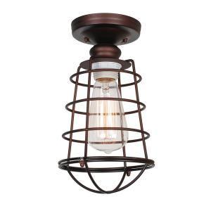 Hampton Bay Esdale 5 In 1 Light Oil Rubbed Bronze Semi Flush Mount With Milk Glass Shade Hjd8011a 2 The Home Depot