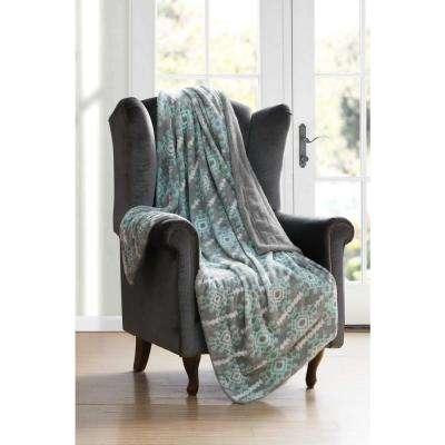 Bexley Grey Aqua Throw