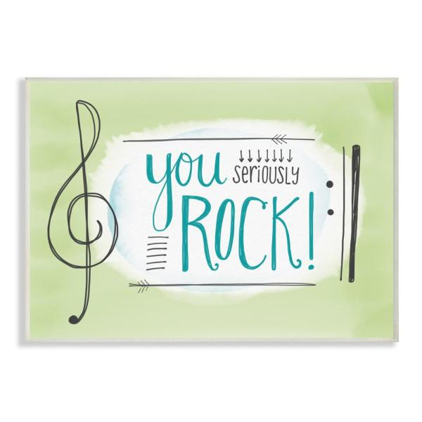 Stupell Industries 10 in. x 15 in. ''You Seriously Rock! Music