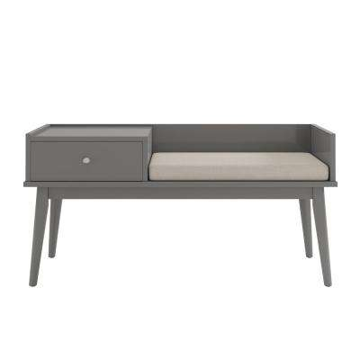 Langley Grey Telephone Bench