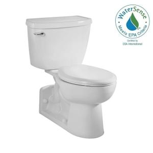 American Standard Yorkville FloWise Pressure-Assisted 4 inch Rough-In 2-piece 1.1 GPF Single Flush Elongated Toilet in... by American Standard