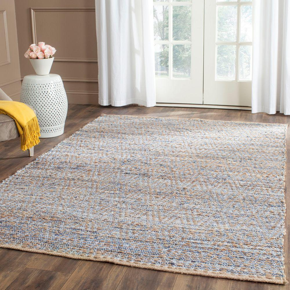 Styles Of Homes In Our Area: Safavieh Cape Cod Natural/Blue 4 Ft. X 6 Ft. Area Rug