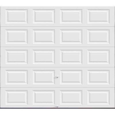 Classic Collection 9 ft. x 8 ft. 18.4 R-Value Intellicore Insulated Solid White Garage Door
