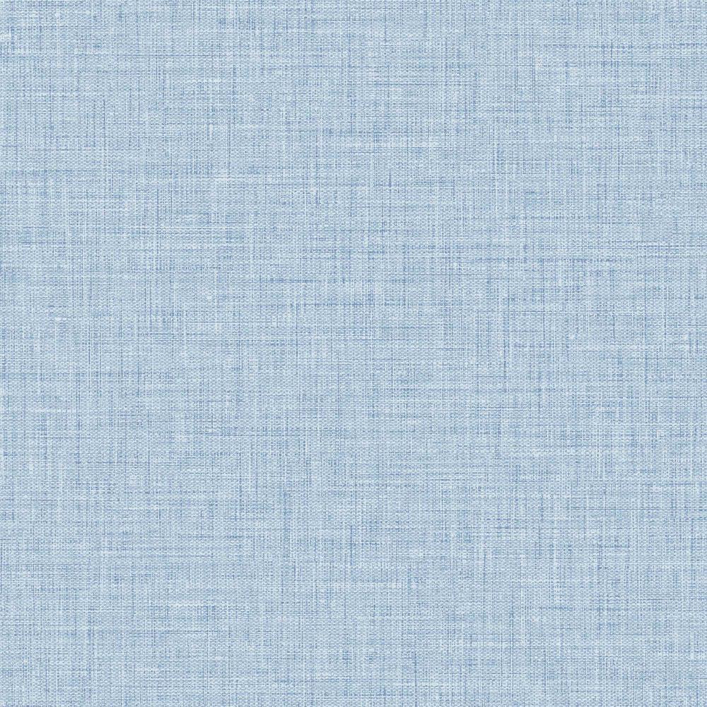 Easy Linen Sky Blue Seaside Embossed Vinyl Wallpaper