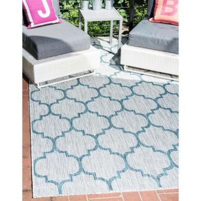 Outdoor Trellis Gray 9' 0 x 12' 0 Area Rug