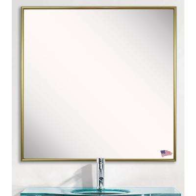 27.125 in. x 27.125 in. Tango Polished Gold Square Vanity Wall Mirror