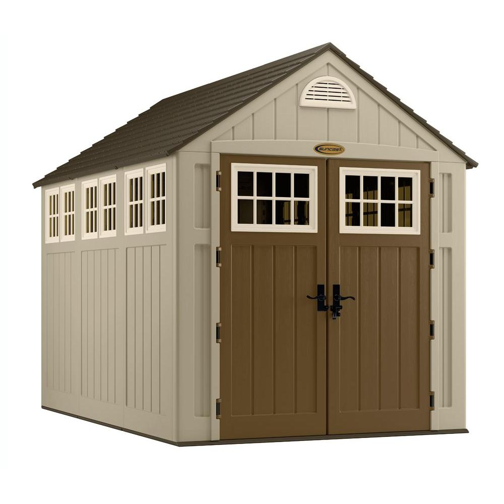 Suncast alpine 7 ft 5 3 4 in x 10 ft 8 in resin for Garden shed 5 x 4