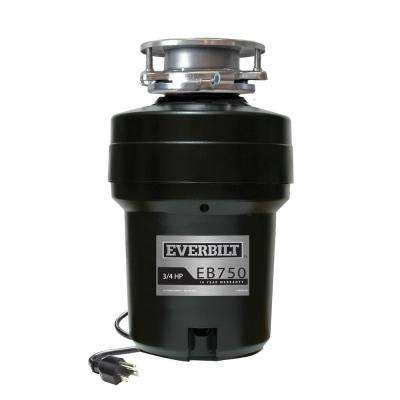 3/4 HP Continuous Feed Garbage Disposal with Attached Power Cord