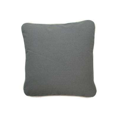 16 in. x 16 in. Gray  Standard Pillow with Green Eco Friendly Insert