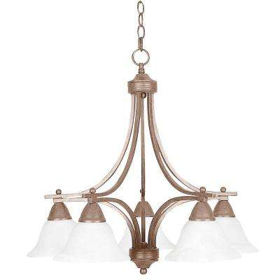 Martindell 5-Light Painted Pewter Chandelier