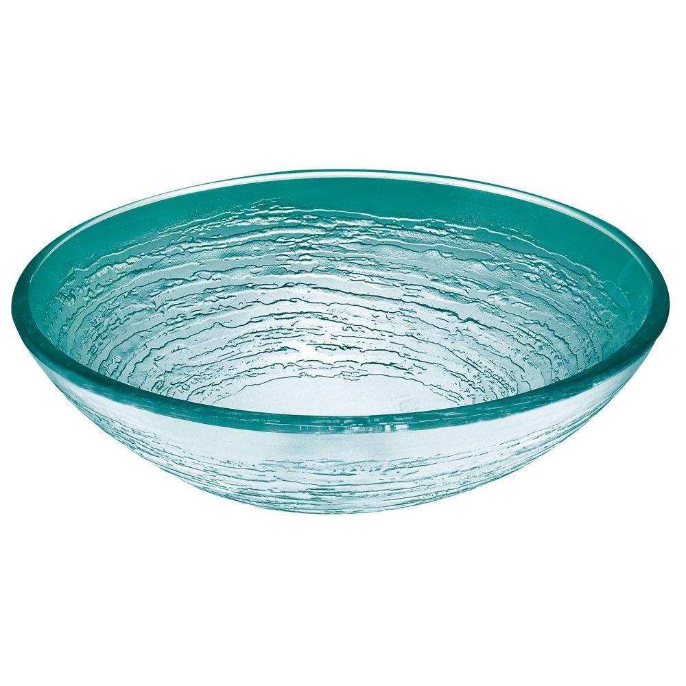 Hembry Creek Swirl Vessel Sink In Frosted Glass