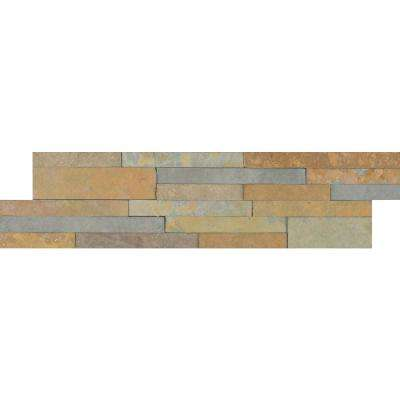 Salvador Fossil Ledger Panel 6 in. x 24 in. Natural Sandstone Wall Tile (8 sq. ft. / case)