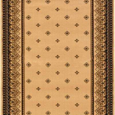 Sapphire Fleur De Lis Ivory 26 in. x Your Choice Length Roll Runner