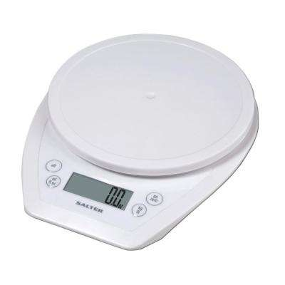 Digital Aquatronic Kitchen Scale in White