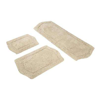 Paradise Memory Foam 3-Piece Bath Rug Set in Taupe