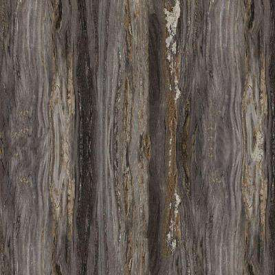 5 in. x 7 in. Laminate Countertop Sample in 180fx Black Fusion with Etchings Finish