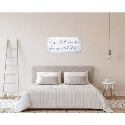 "32 in. W x 15 in. H ""Whole Heart Whole Life"" by JLB Printed Wall Art"