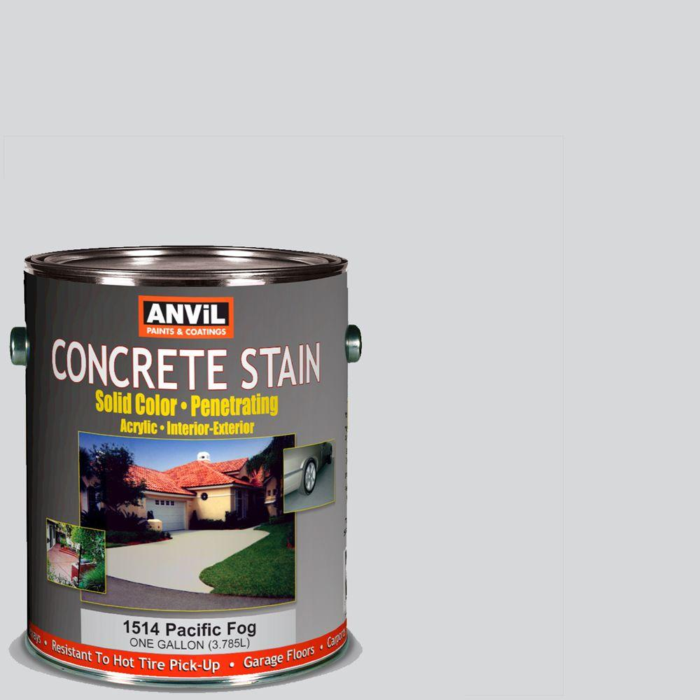 1 gal. Acrylic Dover Grey Solid Color Interior/Exterior Concrete Stain