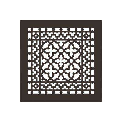 Scroll Series 10 in. x 10 in. Aluminum Grille, Oil Rubbed Bronze without Mounting Holes