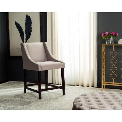 Dylan 25.5 in. Taupe Cushioned Bar Stool