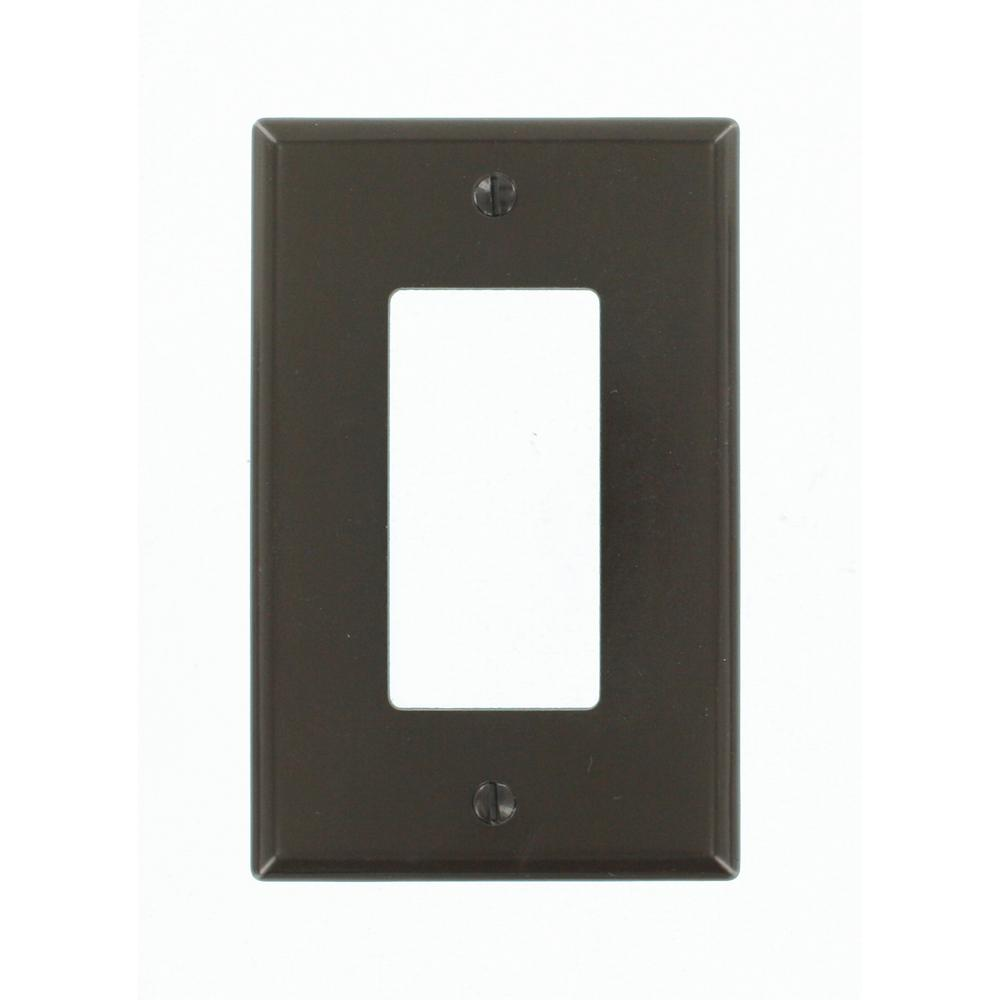 1-Gang Decora Midway Wall Plate, Brown