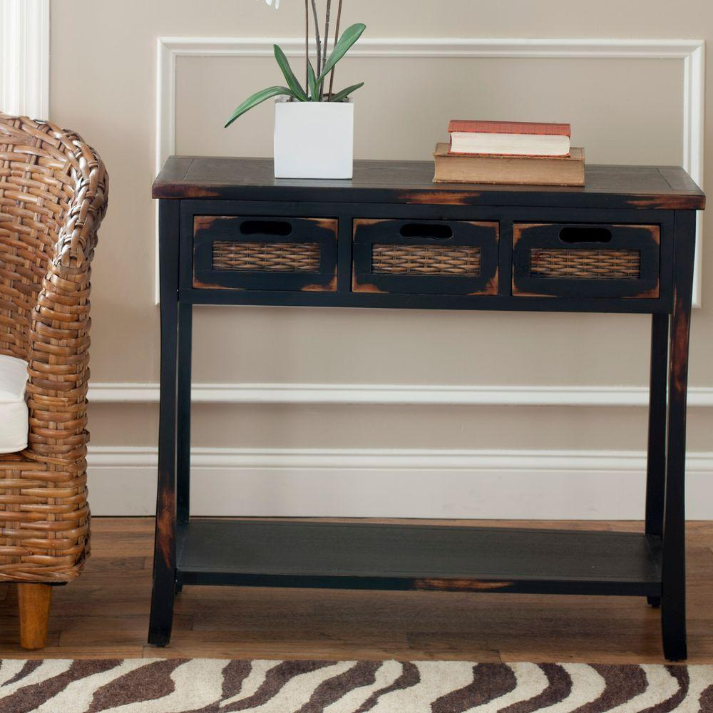 April Distressed Java Storage Console Table
