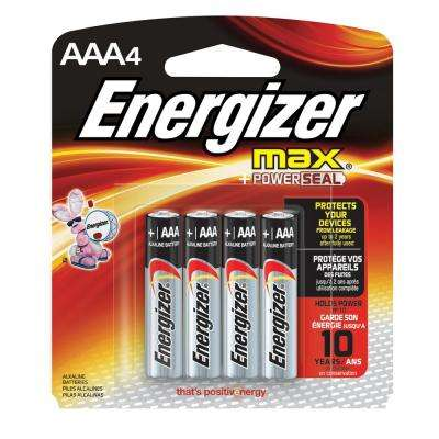 Alkaline AAA Battery (4 per Pack)