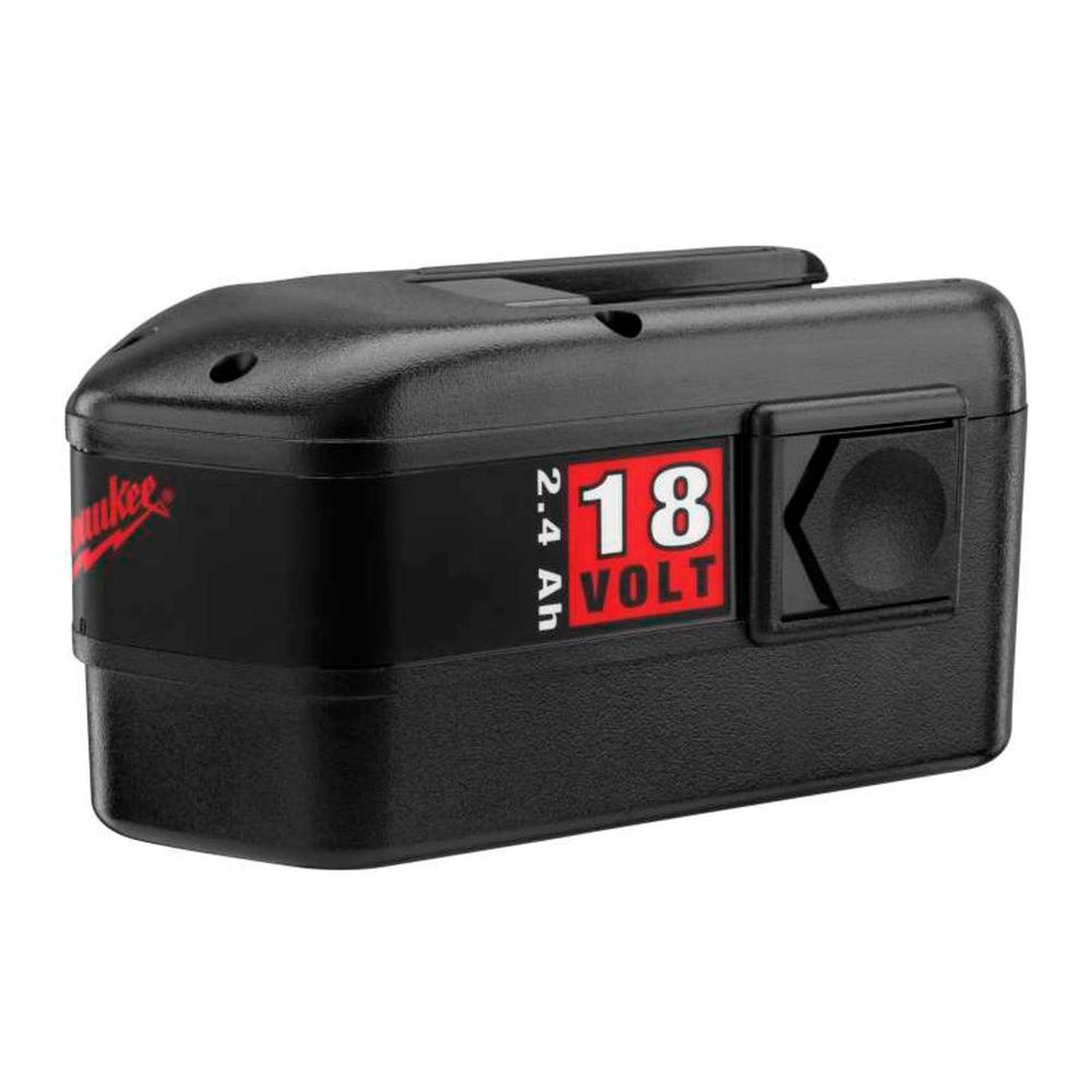 Milwaukee 18-Volt NiCd Battery Pack 2.4Ah for Select Milwaukee Tools