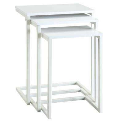 Addison White 3-Piece Nesting End Table