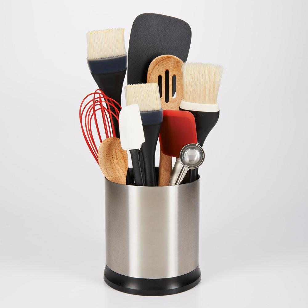 OXO Good Grips Stainless Steel Utensil Holder with Rotating Base ...