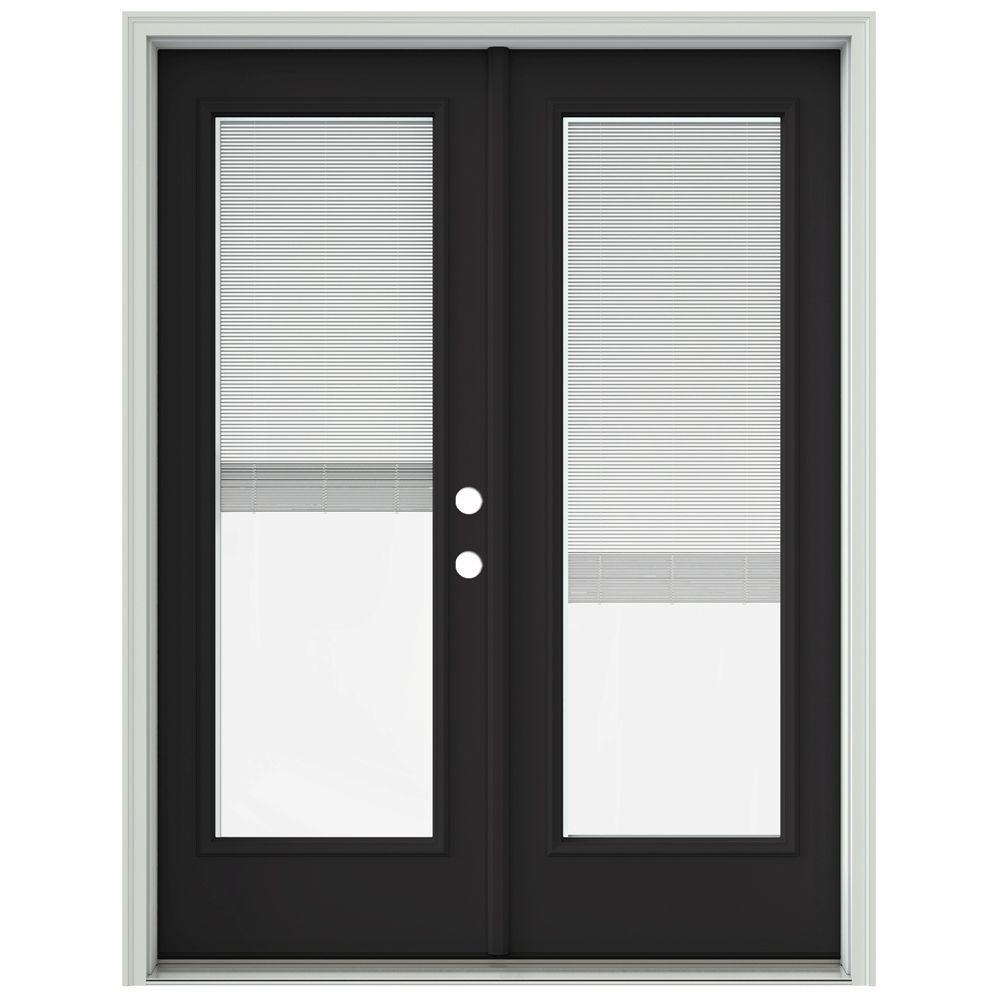 Jeld Wen 60 In X 80 In Chestnut Bronze Prehung Left Hand Inswing French Patio Door With