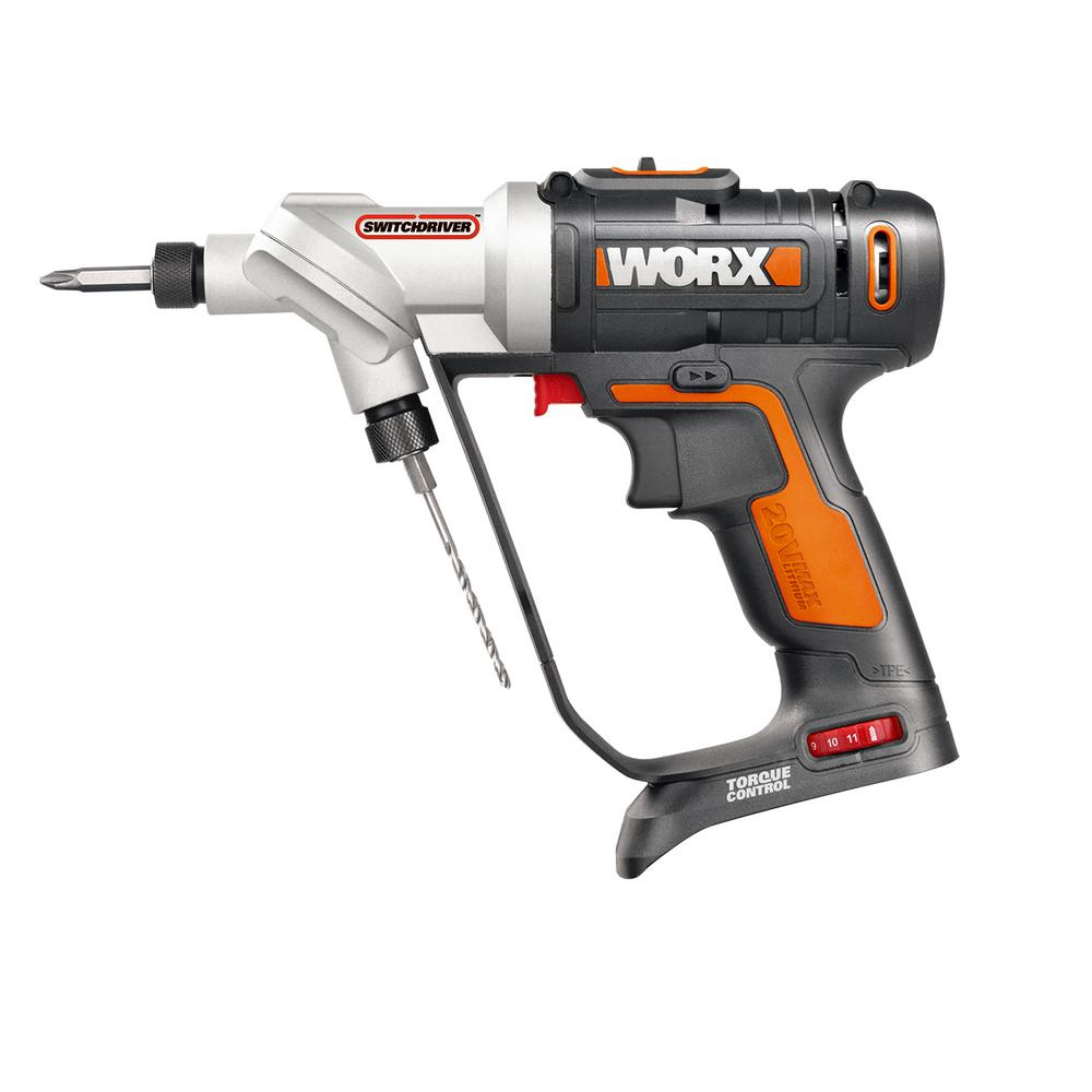 Worx POWER SHARE 20-Volt Lithium-Ion Switchdriver (Bare Tool Only)