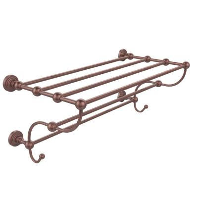 Waverly Place Collection 36 in. W Train Rack Towel Shelf in Antique Copper