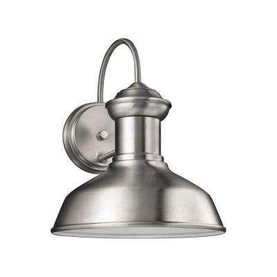 Fredricksburg 1-Light Satin Aluminum 11.9375 in. Wall Lantern Sconce