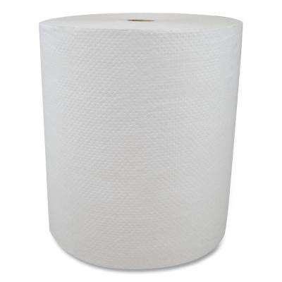 Valay Proprietary Hardwound Paper Towels, 1-Ply, 8 in. x 800 ft., White, 6-Rolls/Carton