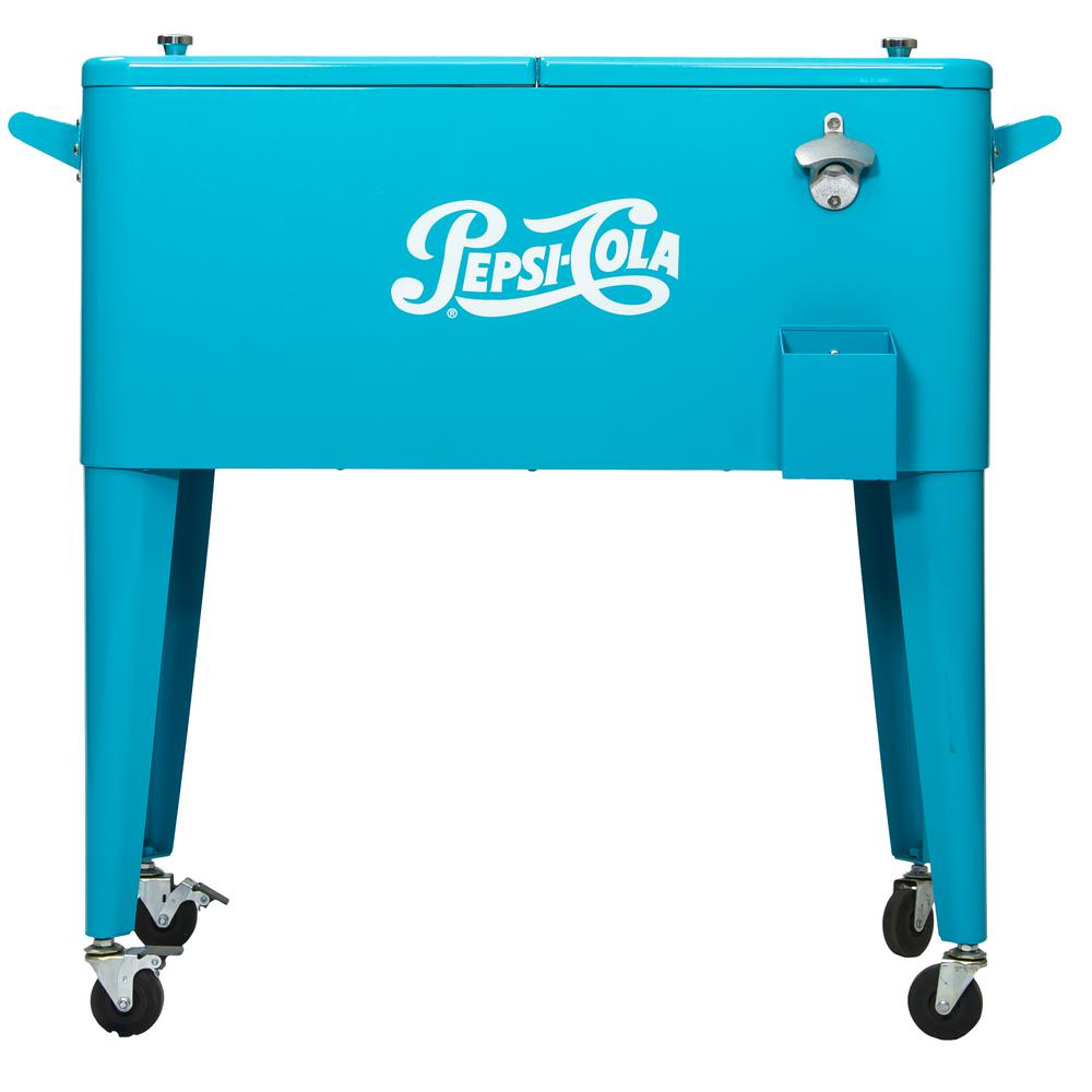 Permasteel 80 Qt. Rolling Patio Cooler