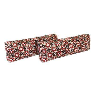 Fall River Red Outdoor Lumbar Pillow (2-Pack)